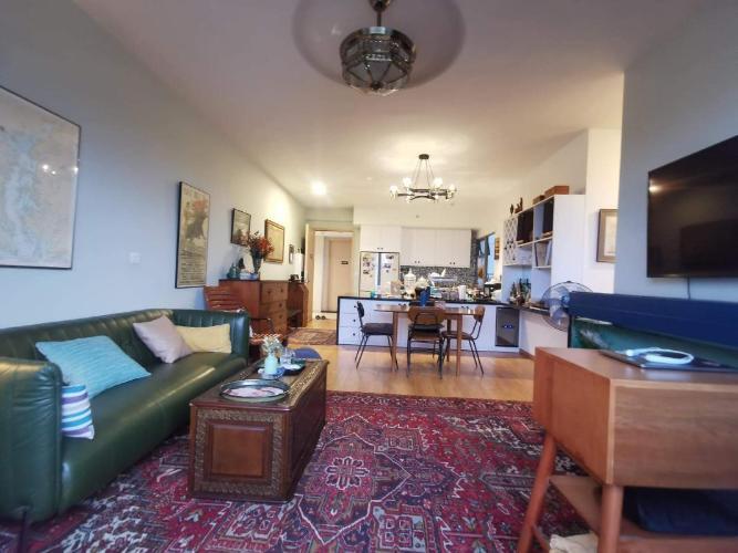 Phòng khách Palm Heights, Quận 2 Căn hộ Palm Heights nội thất đầy đủ, view Landmark 81.