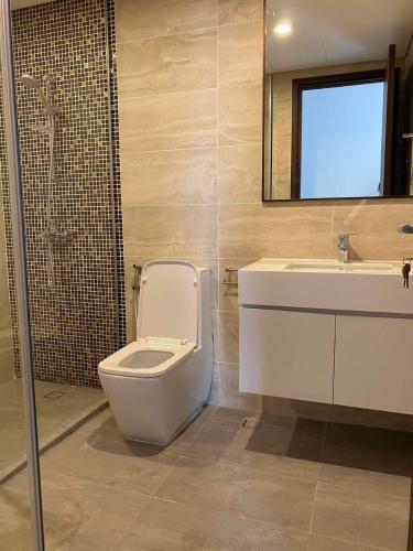 Phòng tắm One Verandah Quận 2 Căn hộ One Verandah tầng trung, view sông, đầy đủ nội thất.