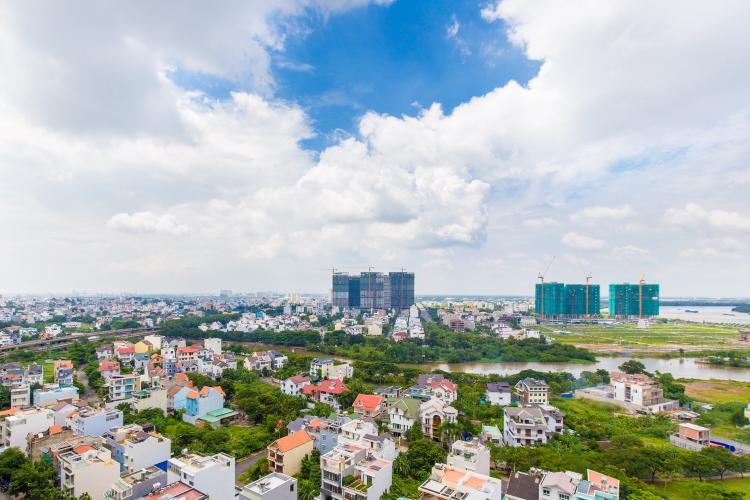 View cảnh căn hộ The Sun Avenue Căn hộ The Sun Avenue tầng trung, view thành phố nhộn nhịp.