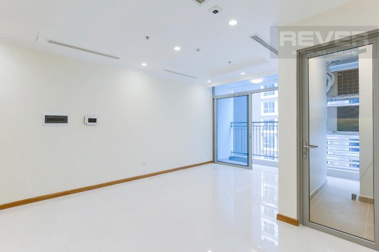 Phòng Khách Officetel Vinhomes Central 2 phòng ngủ tầng trung L4 nhà trống