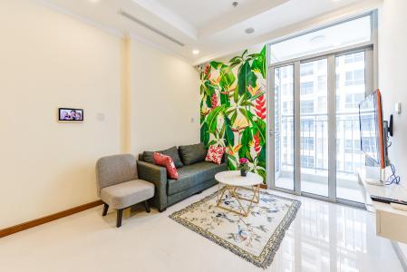 Căn hộ Vinhomes Central Park 1 phòng ngủ tầng cao L6 đầy đủ tiện nghi