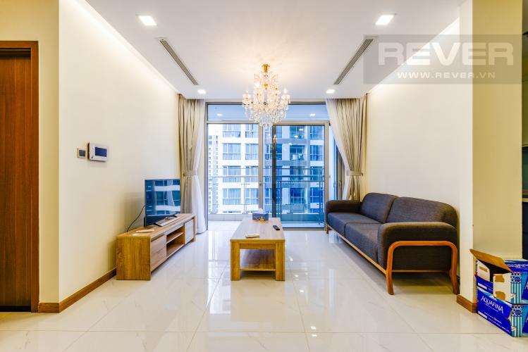Phòng khách Căn hộ Vinhomes Central Park 2PN nội thất đầy đủ, có thể dọn vào ở ngay