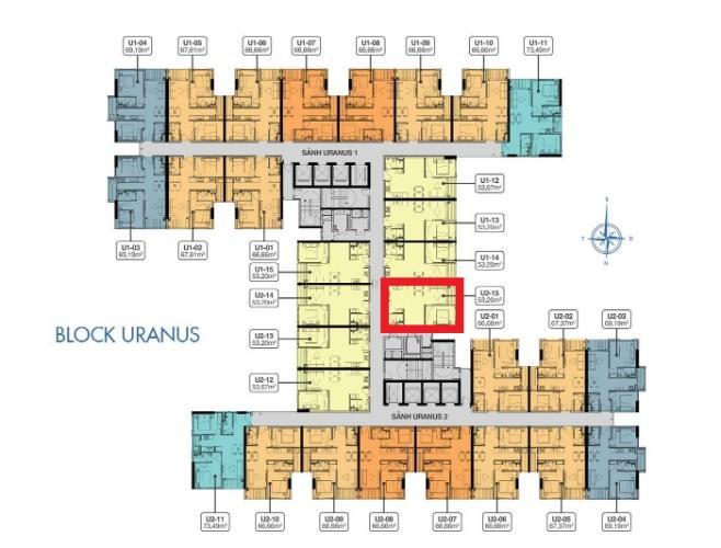 mặt bằng căn hộ q7 saigon riverside Căn hộ Q7 Saigon Riverside tầng cao, nội thất cơ bản, tiện ích đa dạng