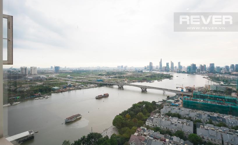 View Căn hộ Saigon Pearl 2 phòng ngủ tầng cao Ruby 1 view sông