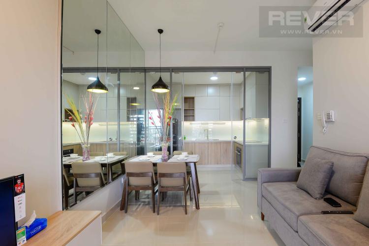 Phòng Khách Cho thuê căn hộ The Sun Avenue 2PN, block 6, diện tích 75m2, đầy đủ nội thất đồng bộ