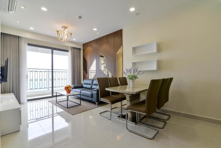 Cho thuê căn hộ The Tresor 2PN, tháp TS1, diện tích 86m2, đầy đủ nội thất, view Bitexco và sông Sài Gòn