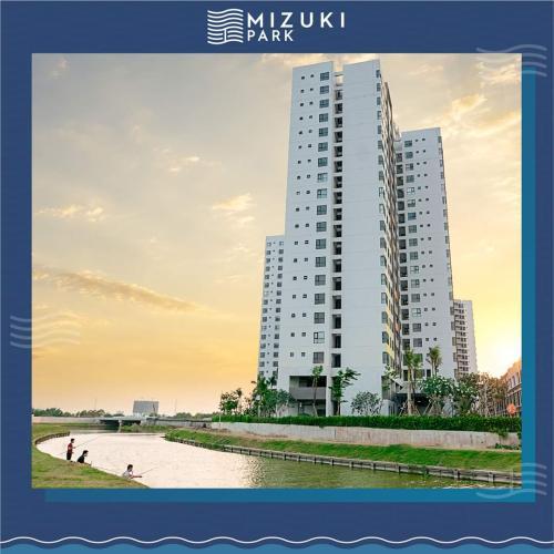 building căn hộ mizuki park Căn hộ Mizuki Park view nội khu hồ bơi, nội thất cơ bản.