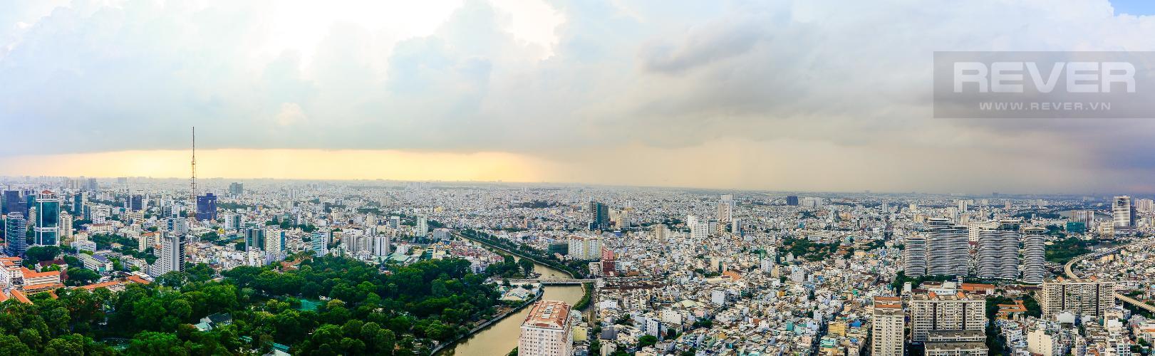 View Cho thuê căn hộ Vinhomes Golden River 1PN, tầng cao, tháp The Aqua 1, đầy đủ nội thất, view sông Sài Gòn thoáng mát