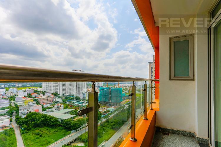 Ban Công Căn hộ Dragon Hill Residence and Suites tầng cao, tháp B, 2 phòng ngủ, full nội thất