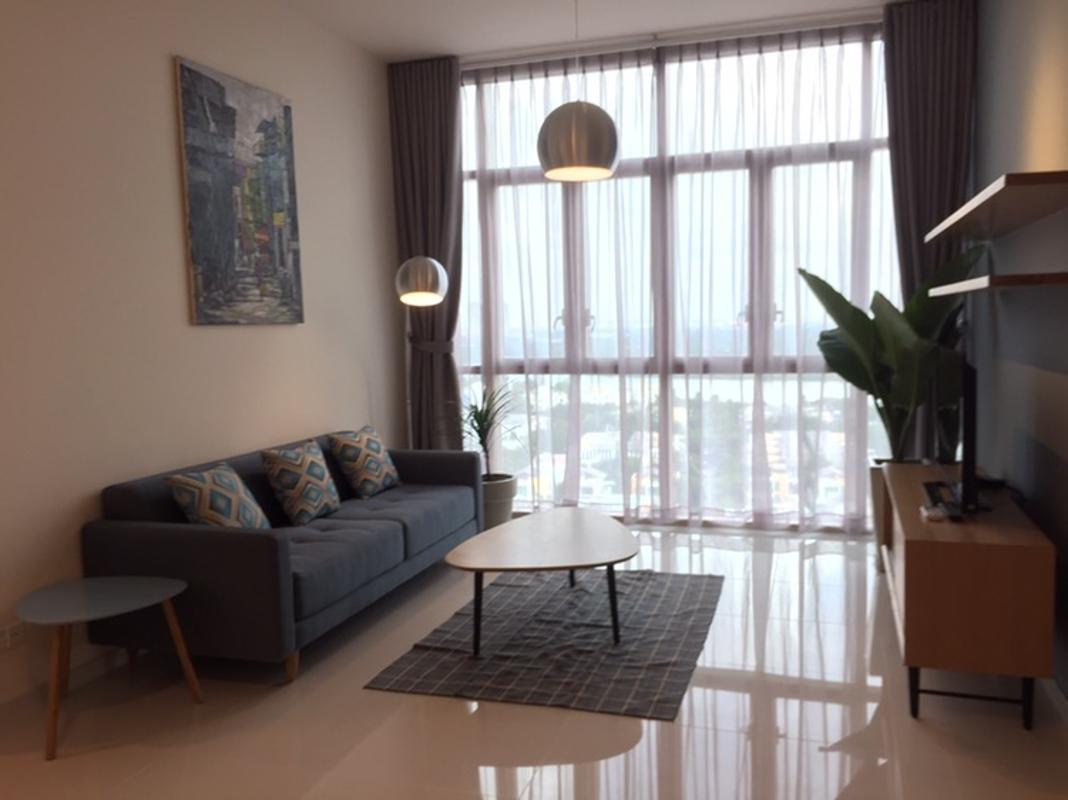 Phòng khách Bán căn hộ The Vista An Phú 2PN, tháp T5, diện tích 101m2, đầy đủ nội thất, view sông Sài Gòn