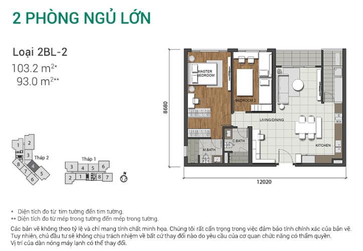 Căn hộ 2 phòng ngủ Căn hộ Estella Heights 2 phòng ngủ tầng trung T2 view nội khu