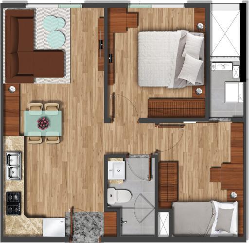 Căn hộ tầng cao Akari City view thông thoáng, nội thất cơ bản.