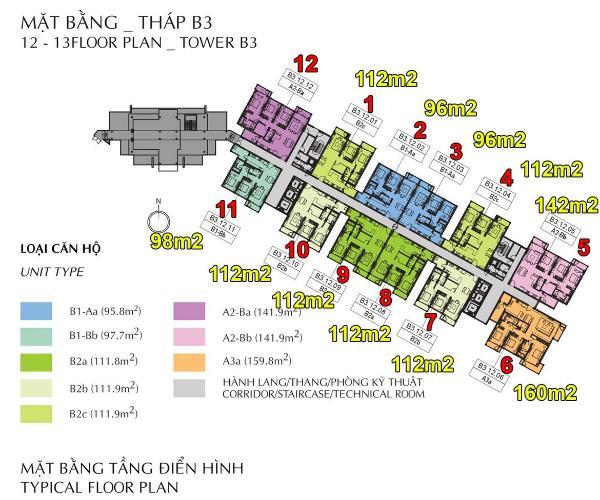 Layout Celadon City, Tân Phú Căn hộ Celadon City hướng Đông Nam, nội thất cơ bản.