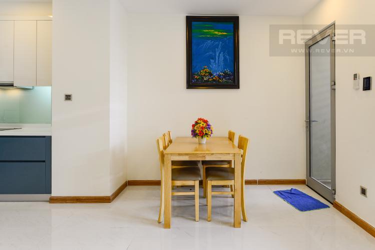 Bàn ăn Căn hộ Vinhomes Central Park 2 phòng ngủ, tầng cao P6, nội thất đầy đủ