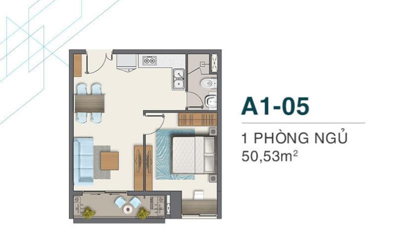 Căn hộ tầng 8 Q7 Boulevard view thông thoáng, nội thất cơ bản.