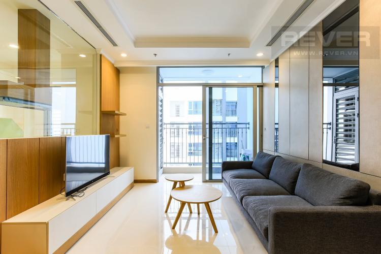 Phòng Khách Căn góc Vinhomes Central Park 3 phòng ngủ, tầng cao L3, nội thất đầy đủ