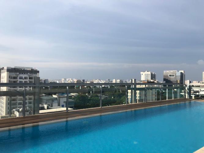 Hồ bơi Avalon Saigon Apartments, Quận 1 Căn hộ Avalon Saigon Apartments view cây xanh thoáng mát, 2 phòng ngủ.