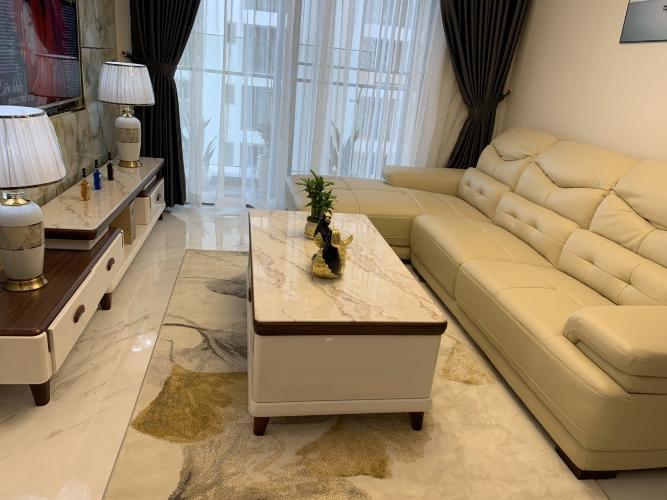 phòng khách căn hộ midtown Căn hộ Phú Mỹ Hưng Midtown nội thất cơ bản, view nội khu mat mẻ.