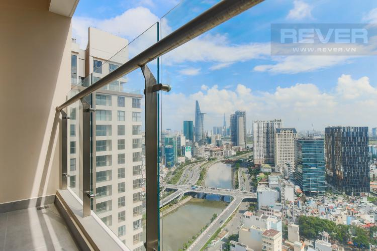 Balcony Cho thuê căn hộ Masteri Millennium tầng cao, 2PN, đầy đủ nội thất, view sông