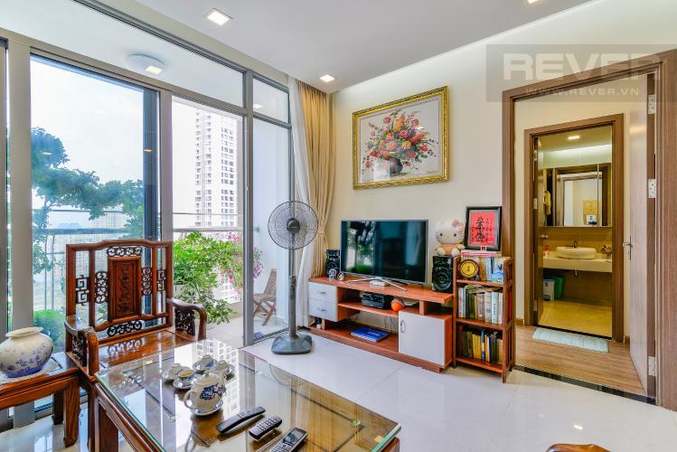 Phòng Khách Officetel Vinhomes Central Park 2 phòng ngủ tầng cao P7 hướng Tây Bắc