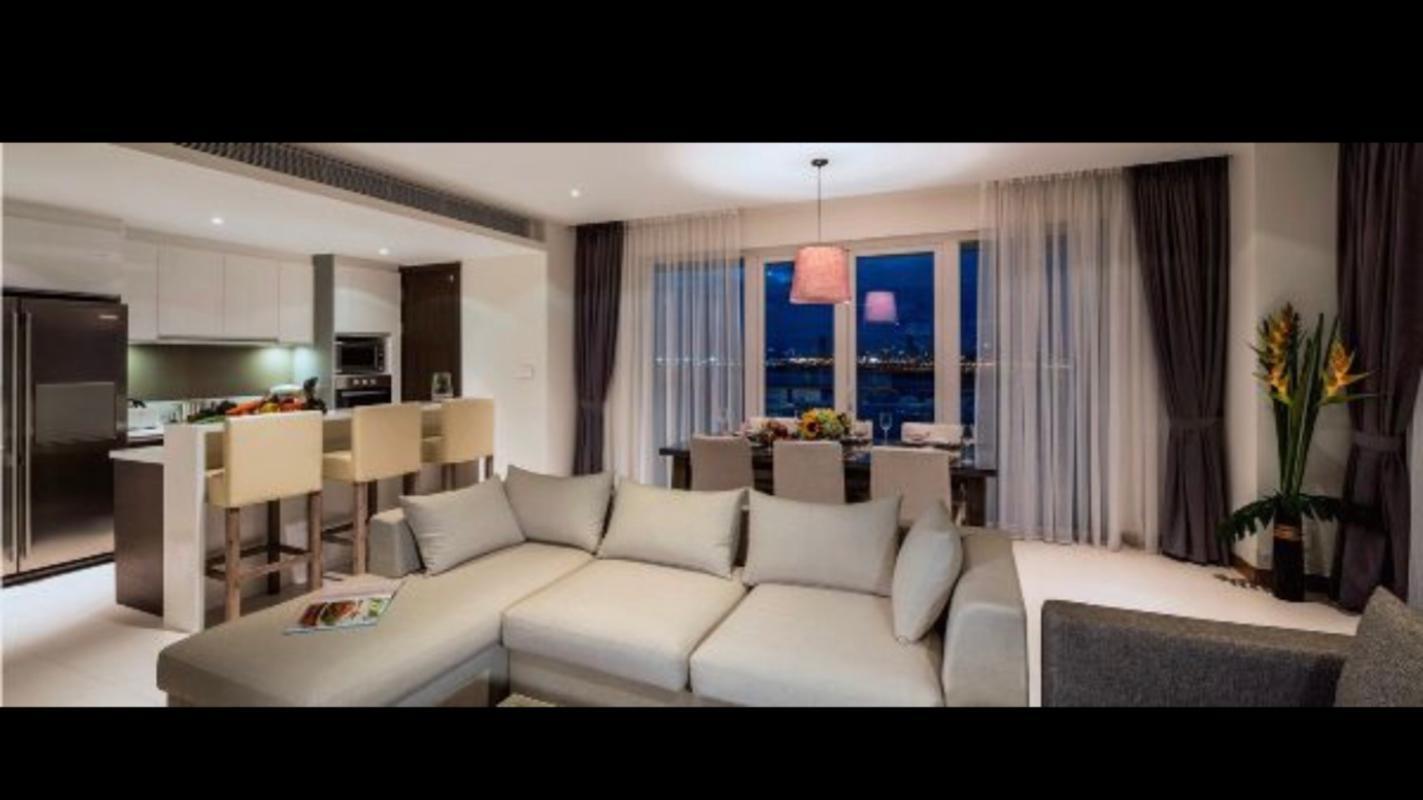 575a82fe3751d10f8840 Bán căn hộ Diamond Island - Đảo Kim Cương 1PN, tầng thấp, đầy đủ nội thất, view sông thoáng mát