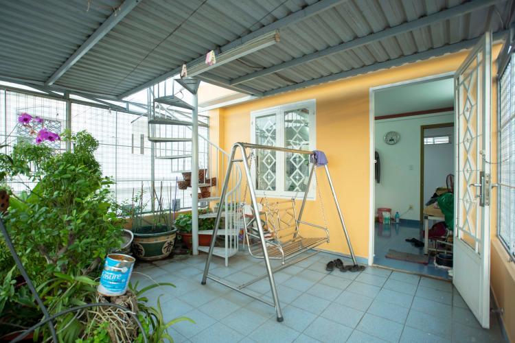 Sân thượng nhà Hoàng Hoa Thám, Bình Thạnh Nhà phố Hoàng Hoa Thám 80.5m2, sân thượng thoáng mát.