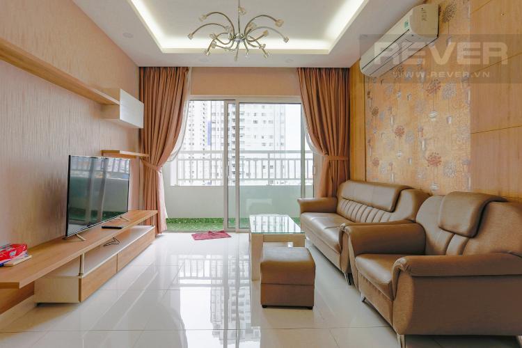 Phòng Khách Căn hộ Sunrise City 2 phòng ngủ tầng trung W1 view hồ bơi