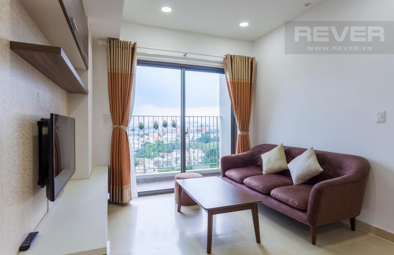 Phòng khách Căn hộ Masteri Thảo Điền trung tầng T2 thiết kế đẹp, đầy đủ tiện nghi
