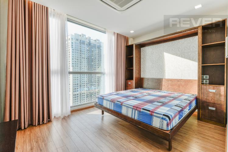 Phòng ngủ 1 OfficeTel Vinhomes Central Park 2 phòng ngủ tầng cao P7 nội thất đầy đủ