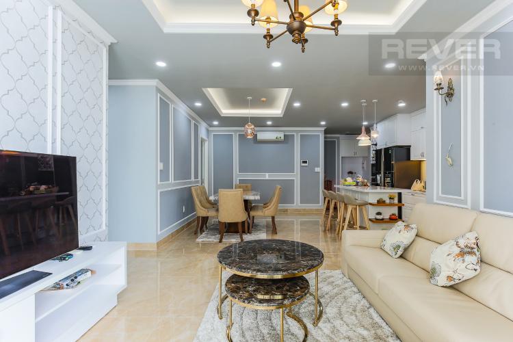 Phòng Khách Căn hộ The Gold View 3 phòng ngủ tầng cao A3 nội thất đầy đủ