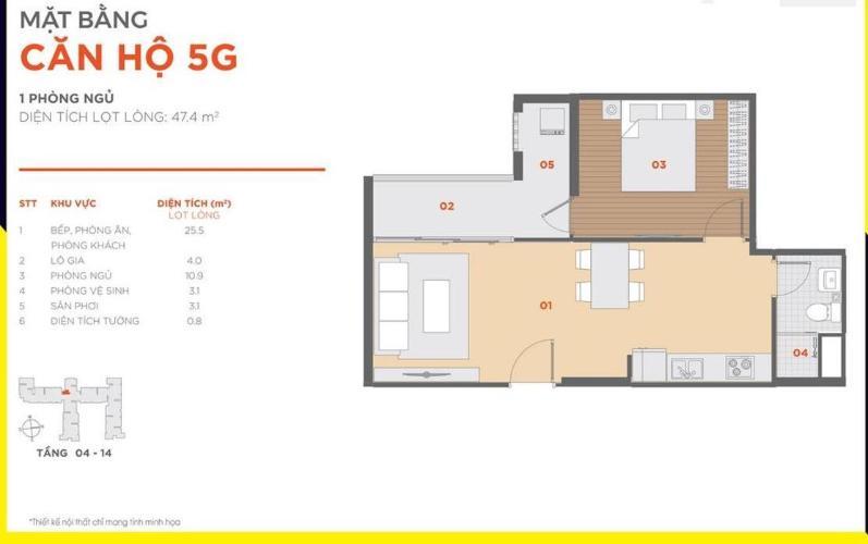 Căn hộ Hausbelo tầng thấp, bàn giao nội thất cơ bản.