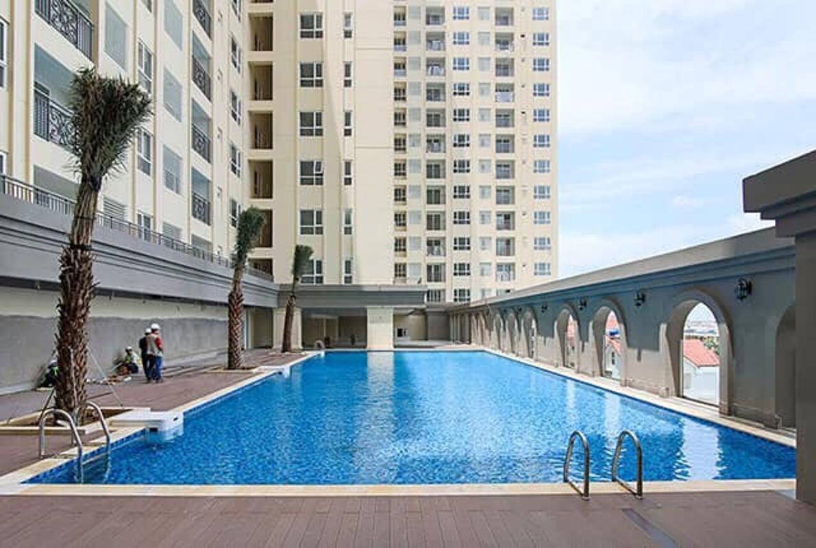 cb59ffbde9eb0fb556fa Bán căn hộ Saigon Mia 1 phòng ngủ, tầng thấp, nội thất cơ bản, hướng Đông, view khu dân cư xanh mát
