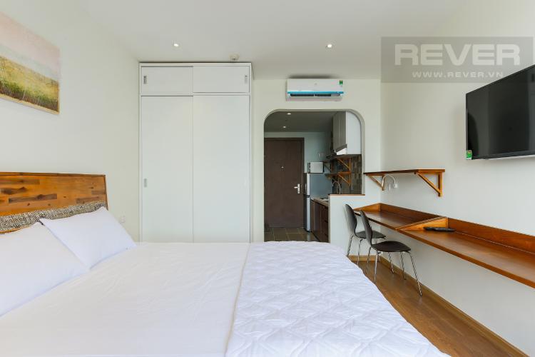Giường Ngủ Căn hộ RiverGate Residence 1 phòng ngủ tầng trung tháp B nội thất đơn giản