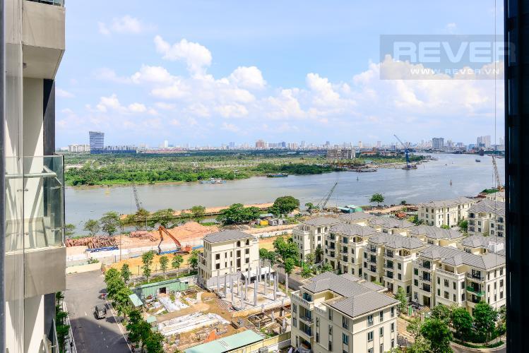 View Cho thuê căn hộ officetel Vinhomes Golden River 1PN, tháp The Aqua 1, view sông Sài Gòn