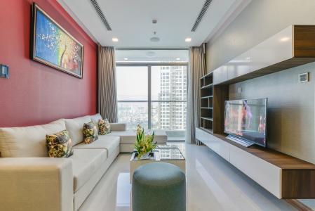 Căn hộ Vinhomes Central Park 2 phòng ngủ tầng trung P6 nội thất đầy đủ