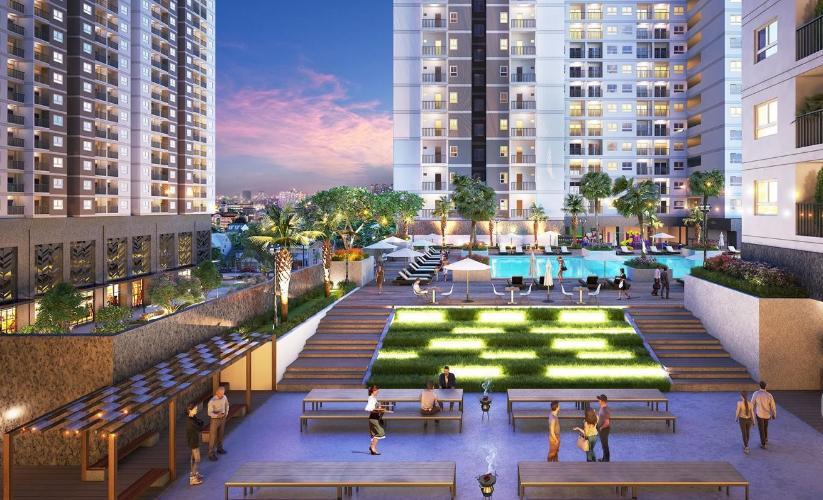 Nội khu căn hộ Q7 Saigon Riverside Bán căn hộ Q7 Saigon Riverside tầng cao, diện tích 66.66m2 - 2 phòng ngủ, chưa bàn giao