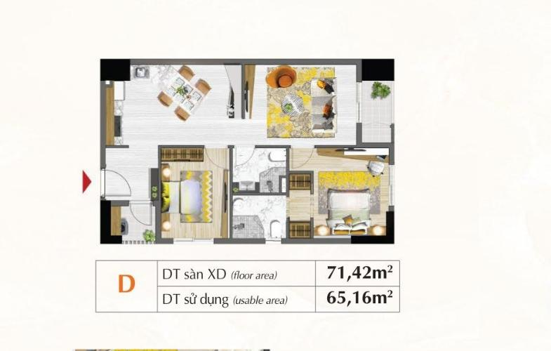 Mặt bằng căn hộ Căn hộ Saigon South Residence tầng 28 nội thất hiện đại