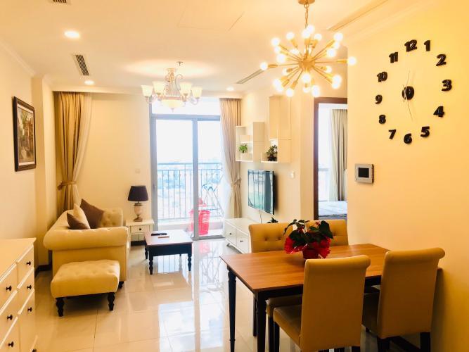 Cho thuê căn hộ Vinhomes Central Park 1PN, tháp Landmark Plus, đầy đủ nội thất, view thành phố