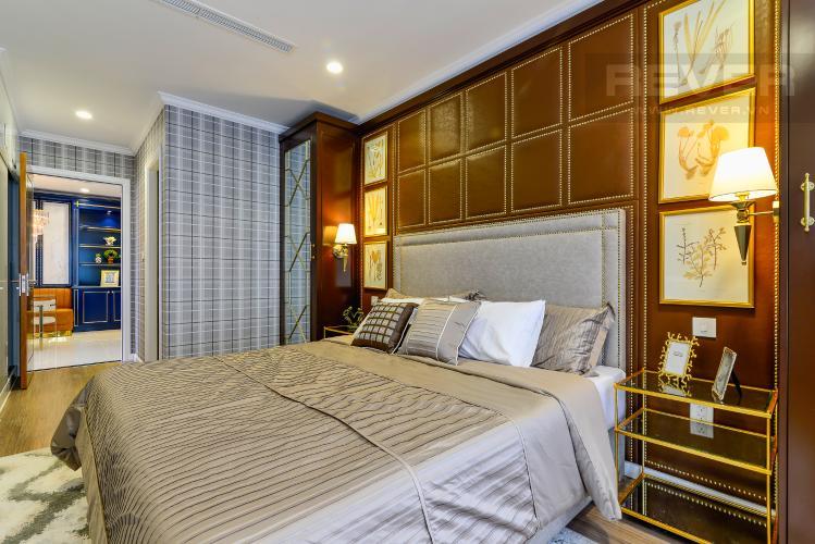 Phòng Ngủ 1 Căn hộ Vinhomes Central Park tầng trung 3PN đầy đủ nội thất, view sông