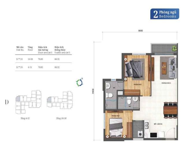 mặt bằng tầng căn hộ Lovera Vista Căn hộ tầng trung Lovera Vista nội thất cơ bản chủ đầu tư
