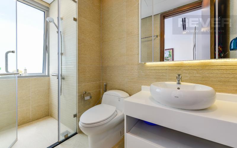phòng tắm 1 Căn hộ Vinhomes Central Park tầng trung Park 1 thiết kế hiện đại