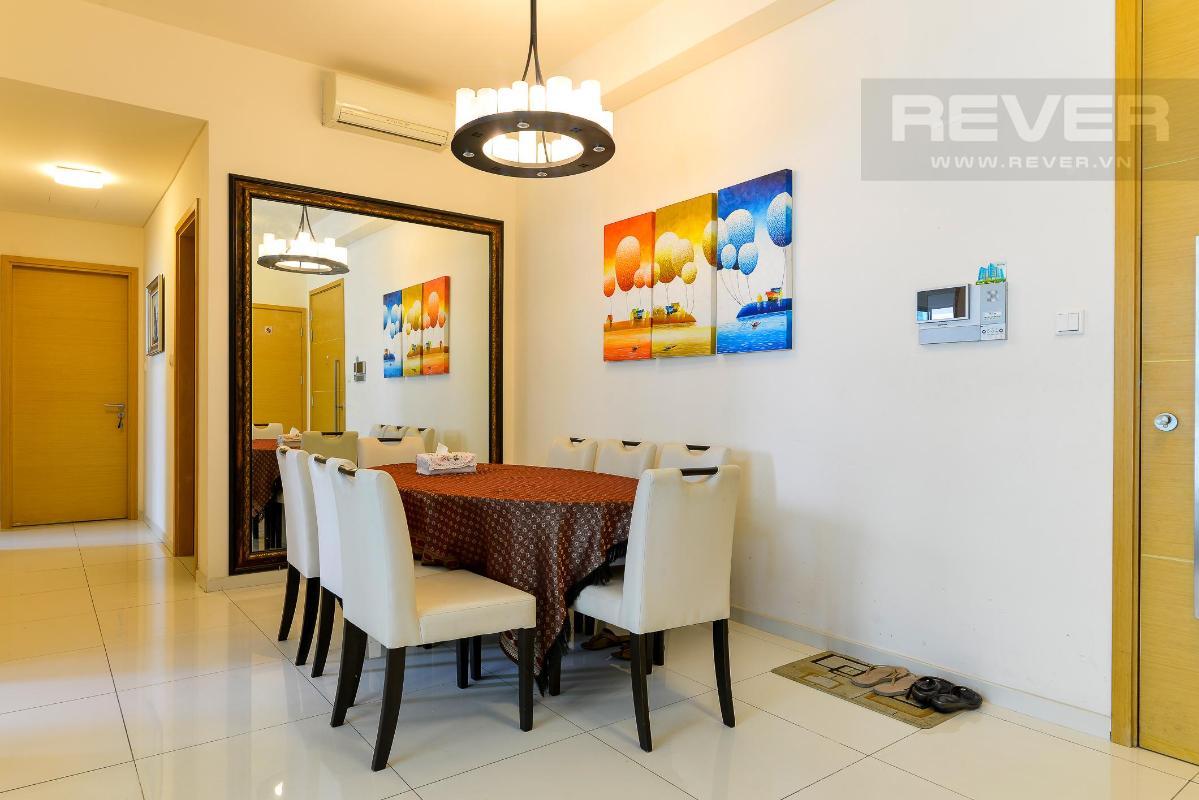 Bàn ăn Cho thuê căn hộ The Vista An Phú 2PN, diện tích 101m2, đầy đủ nội thất, view hồ bơi yên tĩnh