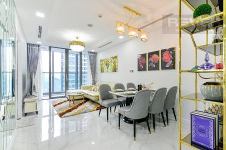 Cho thuê căn hộ Vinhomes Central Park 2PN, tháp Landmark 81, đầy đủ nội thất, hướng Đông Nam, view hồ bơi