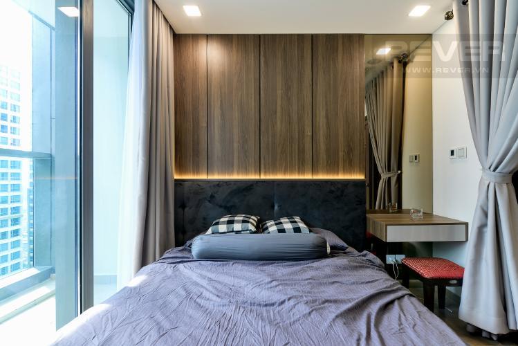 Phòng Ngủ Bán căn hộ Vinhomes Central Park 1 phòng ngủ, tầng trung, tháp Landmark 81, đầy đủ nội thất sang trọng