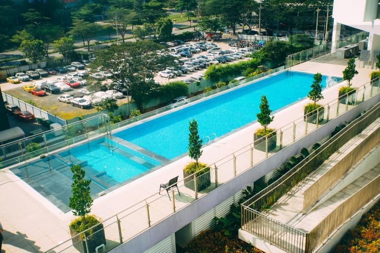 View Căn hộ Scenic Valley tầng thấp, 2PN đầy đủ nội thất, view hồ bơi