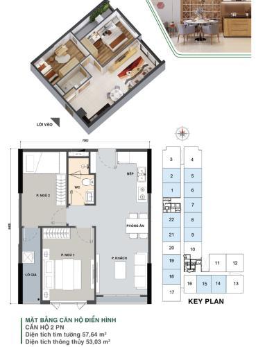 Tổng thể dự án Picity Bán căn hộ Picity High Park tầng trung, 2 phòng ngủ, diện tích 57.6m2, nội thất cơ bản