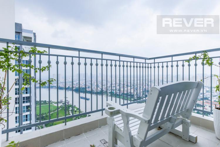 Ban Công Căn góc Vinhomes Central Park tầng cao Central 1 view nhìn vĩnh viễn về sông