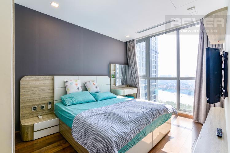 Phòng Ngủ 1 Căn hộ Vinhomes Central Park 2 phòng ngủ tầng cao P6 đầy đủ tiện nghi