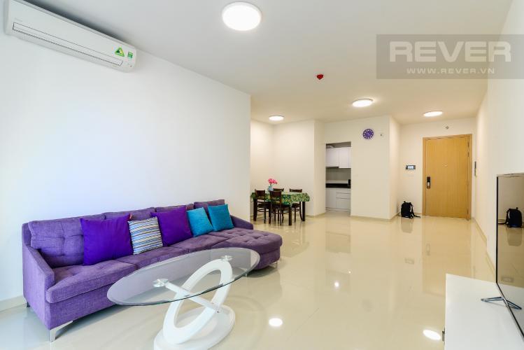 Phòng Khách Cho thuê căn hộ Vista Verde 2PN, tầng trung, đầy đủ nội thất, view hồ bơi
