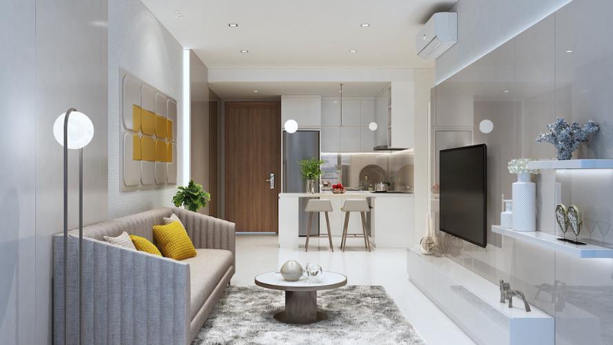 Phòng khách D'Lusso Quận 2 Căn hộ D'Lusso tầng trung, 2 phòng ngủ, bàn giao nội thất cơ bản.